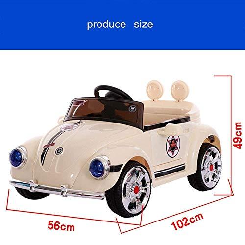 WGFGXQ Kinder Elektroauto Baby Allrad Fernbedienung TCar kann Menschen 1-3 Jahre alt Kind Aufladen Mädchen Autofahrt auf Fahrzeugen BGirl Swing RC Kind TCar Geschenk sitzen - 3
