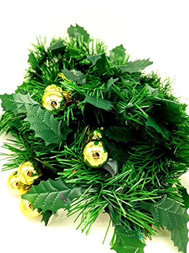10u Espumillón de Navidad Ignífuga Extra Rellena de 5cm Diametro, Pack 10 x 2m Aprox. Guirnalda...