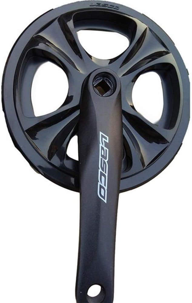 LIANYG Bike Crank Arm Bicycle 8-Speed Chainwheel Aluminum Alloy Crank Single Speed 46 Tooth MTB Bike Parts Bicycle Accessory Bicycle Crank