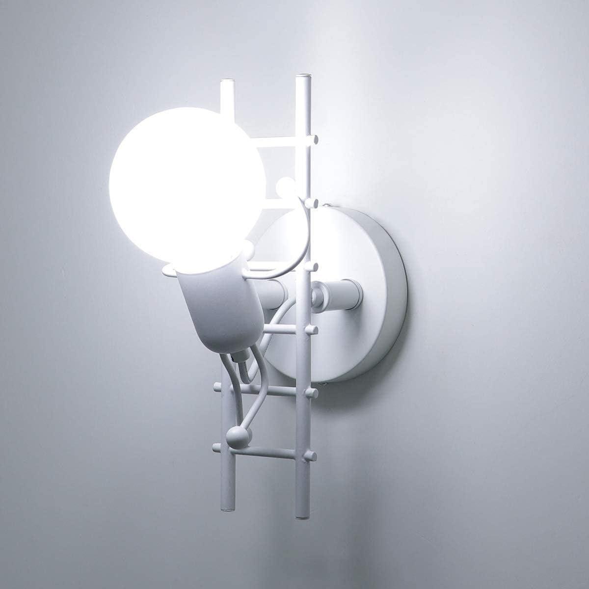 Restaurant CattleBie Humano/ïde Cr/éatif Applique Murale Interieur Lampe Murale Moderne Lampe de Mur Art D/éco Max 60W E27 pour Chambre /à Coucher Escalier Couloir Chambre denfants Cuisine