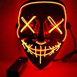 Kaliwa Maschera LED Halloween Maschera - Divertente Maschere con 3 modalità Flash Illumin...