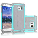 Best Galaxy S6 Cases - Tekcoo for Galaxy S6 Case, [Tmajor Series] [Turquoise/Grey] Review