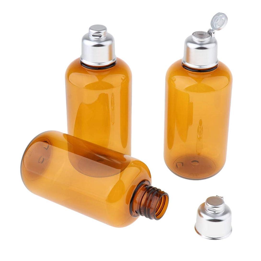 カスタム精巧なフィラデルフィアgazechimp 詰替え容器 化粧品ボトル 空 シャンプー容器 3個 旅行用品 全3サイズ - 200ミリリットル