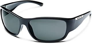 Suncloud Convoy Polarized Sunglass with Polycarbonate Lens, Convoy, Black Frame/Gray, One Size