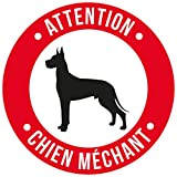 Cadox Adhesif Attention Chien Mechant