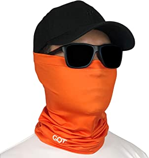 GOT Sports UPF 50+ Fishing Sun Face Mask, Neck Gaiter - UV Protection Scarf, Bandana, Balaclava