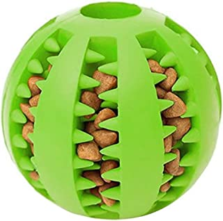 Dog cat pet Chewing Teeth Cleaning Ball pet Sports Game Ball IQ Training Ball, Toy Ball, Non-Toxic bite-Resistant Toy Ball, Dog Food Tooth Cleaning