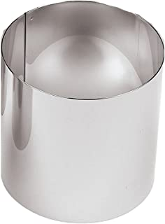 Paderno World Cuisine 2 3/4 Inch by 4 3/8 Inch Tall Pastry Ring