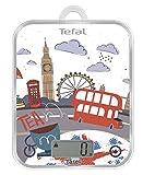 Tefal BC Optiss Cities BC5124V0–Báscula de Cocina con Motivos de Londres, Aluminio, Multicolor, 18x 2,9x 23,2cm