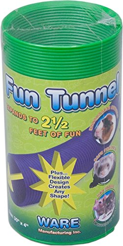 Ware Manufacturing Fun Tunnels Play Tube for Small Pets, 30 X 4 Inches - Medium