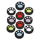 Sudroid 10 xSilicone Thumb Stick Grips Caps Cute Cat Paw for Nintendo Switch NS Joy-Con Controller Joystick Accessories