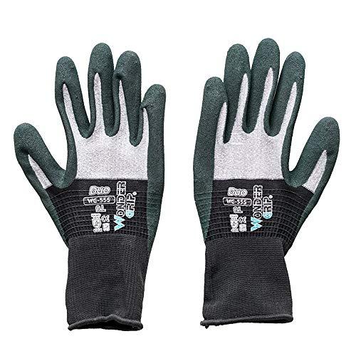 Microfiber werkhandschoenen, ultradunne, multifunctionele mechanische handschoenen, donkergroen-duurzame tuinhandschoenen