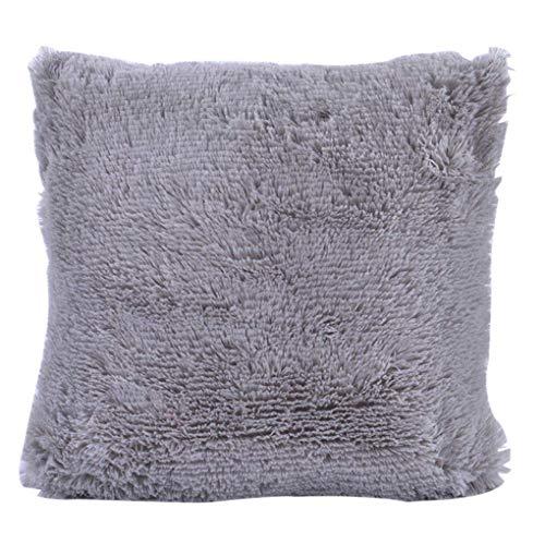 PULABO Funda de almohada de color sólido suave felpa cuadrada cojín cubierta hogar dormitorio sofá decoración alta calidad superior