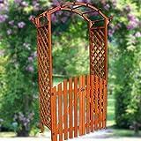 Rosenbogen - Eingangs-Torbogen aus Holz mit Tür