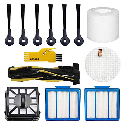 aoteng Accessories Kit for Shark IQ R101AE (RV1001AE) IQ R101 (RV1001) Robot Vacuum Cleaner Replacement Parts Pack of Main Brush, Filters, Side Brushes Brushes Dining Features Kitchen