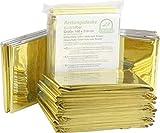 Rettungsdecken Rettungsfolie 10 Stück Medi-Inn Gold Silber 56 g schwer Größe: 160 x 210 cm