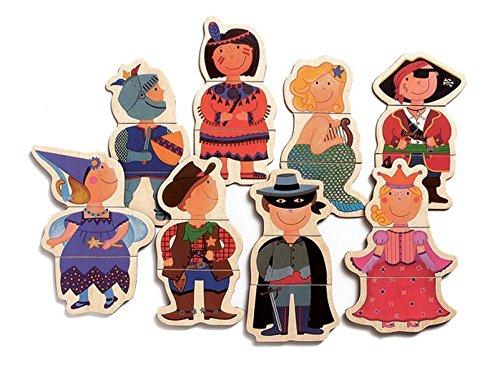 DJECO- Calendarios de advientoImanes y Juguetes magnticosDJECOMagnticos Nios disfrazados, Multicolor (15)