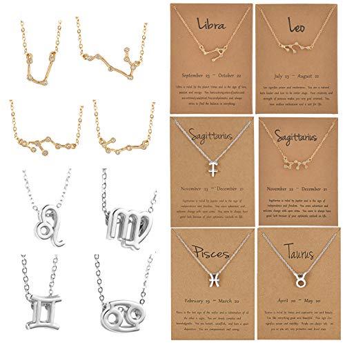 Das 48-teilige Zodiac Charms-Set enthält 12 Zodiac Theme Sign Letter-Wortanhänger und 12 Strass Zodiac Charms-Anhänger mit 24-teiligen Zodiac Jewelry-Grafikkarten