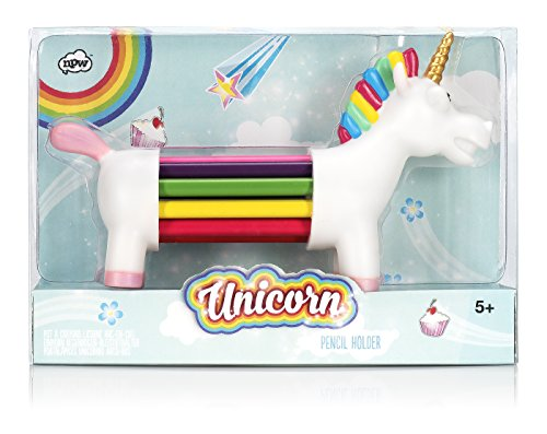 NPW-USA (NP25170) Unicorn-Shaped Color Pencil Set, 10-Count
