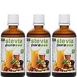 Flüssiges Stevia Extrakt Fluid (Tafelsüße) 3 x 50 ml - STEVIA Fluid - flüssiges Stevia Extrakt/natürliches Süßungsmittel/Premiumqualität/Zuckerersatz
