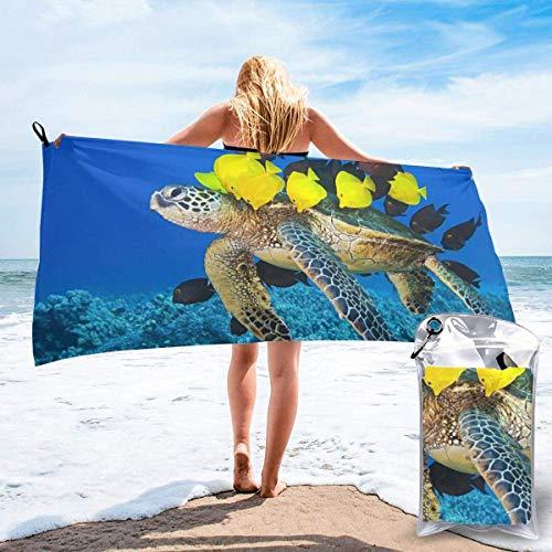 Toalla de baño Sea Turtle Microfiber Sand Free Toalla de Playa Manta-Quick Dry Super Absorbente Toalla Fina y Ligera