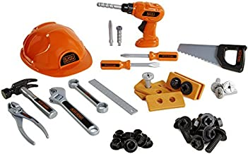 BLACK+DECKER Junior Kids Tool Set - Mega Tool Set with 42Piece Tools & Accessories! Role Play Tools for Toddlers Boys & Girls Ages 3 Years Old & Above, Includes Helmet & Drill!