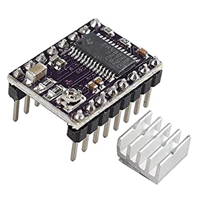 HALJIA StepStick DRV8825 Stepper Motor Driver Carrier Reprap 4-layer PCB With Heat Sink Compatible with 3D Printer Reprap RP A4988