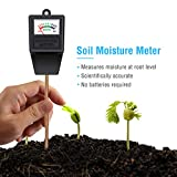 5. Atree Soil Moisture Sensor Meter Tester, Soil Water Monitor, Humidity Plant Tester, Hygrometer Great for Garden, Farm, Lawn, Indoor & Outdoor (No Battery Needed)