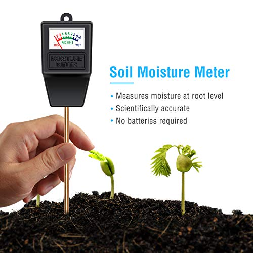 Atree Soil Moisture Sensor Meter Tester, Soil Water Monitor, Humidity Plant Tester, Hygrometer Great for Garden, Farm, Lawn, Indoor & Outdoor (No Battery Needed)