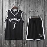 LYY Jerseys Men's, Brooklyn Nets # 7 Kevin Durant - Niño Uniformes De Baloncesto para Adultos Sin Mangas Camisetas Casuales Y Chaleco Cómodo Tops Set,Blanco,S(Child) 115~125CM