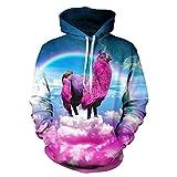 NEWCOSPLAY Unisex Realistic 3D Digital Print Pullover Hoodie Hooded Sweatshirt (L/XL)