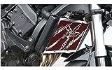 Protezione radiatore//copri radiatore Honda CB 650 F 20172018 grata anti ghiaietto nera design Wing