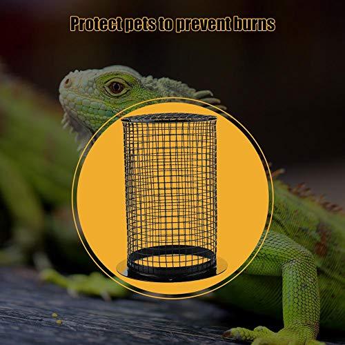 Verwarmingslamp voor terrarium, UVB, schildpad, lampenkap, bescherming tegen verbranding, reptielen, verwarmingsdeken van keramiek, beschermkap, lampenkook voor reptielen van huisdieren.