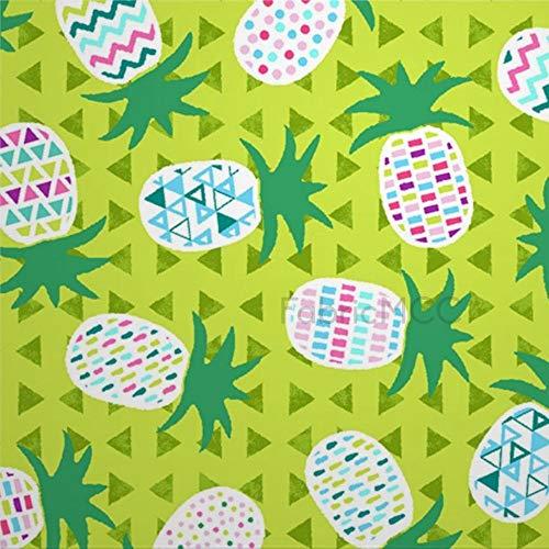 daoyiqi Juego de pegatinas decorativas para azulejos, playa de flamenco, piña, verde lima, 10,6 x 10,1 cm, vinilo adhesivo para suelo, 12 unidades, resistente al agua, para decoración del hogar