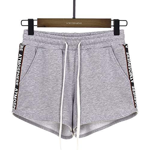 Pantalones Cortos para el hogar para Mujer, Cintura elástica, salón, Yoga, Gimnasio, Ejercicio, Deportes,...