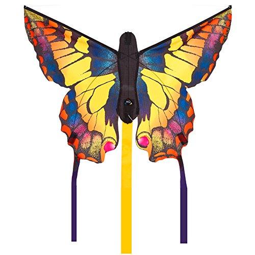 """HQ Windspiration -Butterfly Kite Swallowtail \""""R\"""" Kinderdrachen Einleiner, ab 5 Jahren, inkl. 10kp Polyesterschnur 25m auf Griff, 2-4 Beaufort 61 x 10.2 x 5.1 cm"""