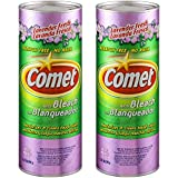 Comet Cleaner with Bleach Powder, Lavender Fresh, 21-Ounces, Scratch-Free, 2-Pack