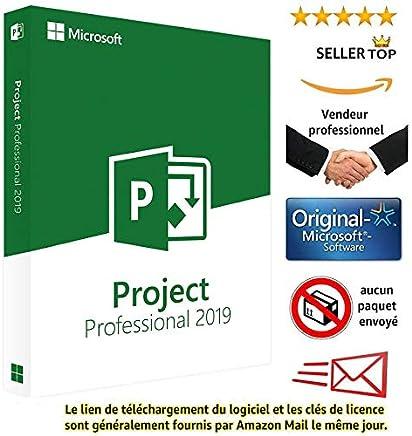 Project 2019 Professional Plus - Licence perpétuel original - Pas d'abonnement - Licence envoi Numérique- seulement pour windows 10