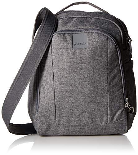 PacSafe Metrosafe LS250 12 Liter Anti Theft Shoulder Bag-Fits 11 inch Laptop, Dark Tweed Grey