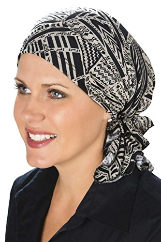 Slip-On Slinky-Caps for Women with Chemo Cancer Hair Loss Neutral Tribal