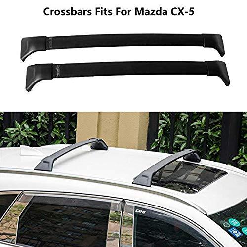 2 Piezas de Equipaje portaequipajes Barra Transversal Barra de Techo portaequipajes en Forma para Mazda CX-5 2017 2018 2019 2020