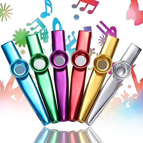 moinkerin 6 Stücke Kazoo Metall Kazoo Musikinstrument Kazoo Kinder für Kinder, Musikliebhaber, Instrumentalbegleitung, Geburtstagsgeschenk