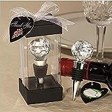 Serria® Hochzeitsdekoration Kristall Weinflaschenverschluss Hochzeitsfestbevorzugung Geschenk Dekor klar