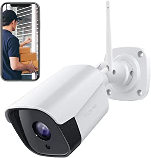 Victure Outdoor Security Camera 1080P Weatherproof WiFi Bullet Camera CCTV Camera with Night Vision Two Way Audio Motion Detection Home Surveillance Camera Compatible with iOS/Android System