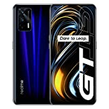 Original Real me GT 12G+256GB 5G Mobile Phone Snapdragon 888 120Hz 6.43' AMOLED Screen 3D Glass Body 64MP Cameras 4500mAh 65W Charger NFC Cellphones Support Google-by (CTM Global Store) (Blue 12+256)