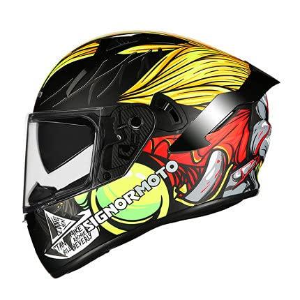 IDWX Casco De Motocicleta Visera Abatible Lente Doble Casco De Hombre Motocicleta Moto Motocross Cascos Integrales M-XXL EstáNdar De Seguridad Ece 22.05