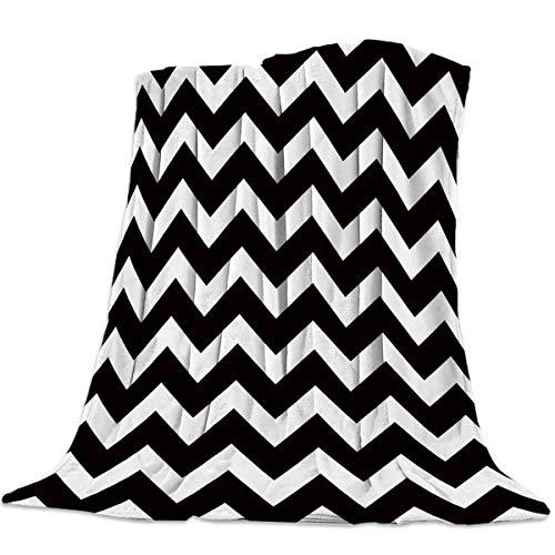 Manta de franela polar para niños adultos Zig Zag Elegance Chevron diseño ligero cómodo lanza suave Fuzzy para ropa de cama sofá fundas de sillas mantas calientes todas las estaciones ^ A2