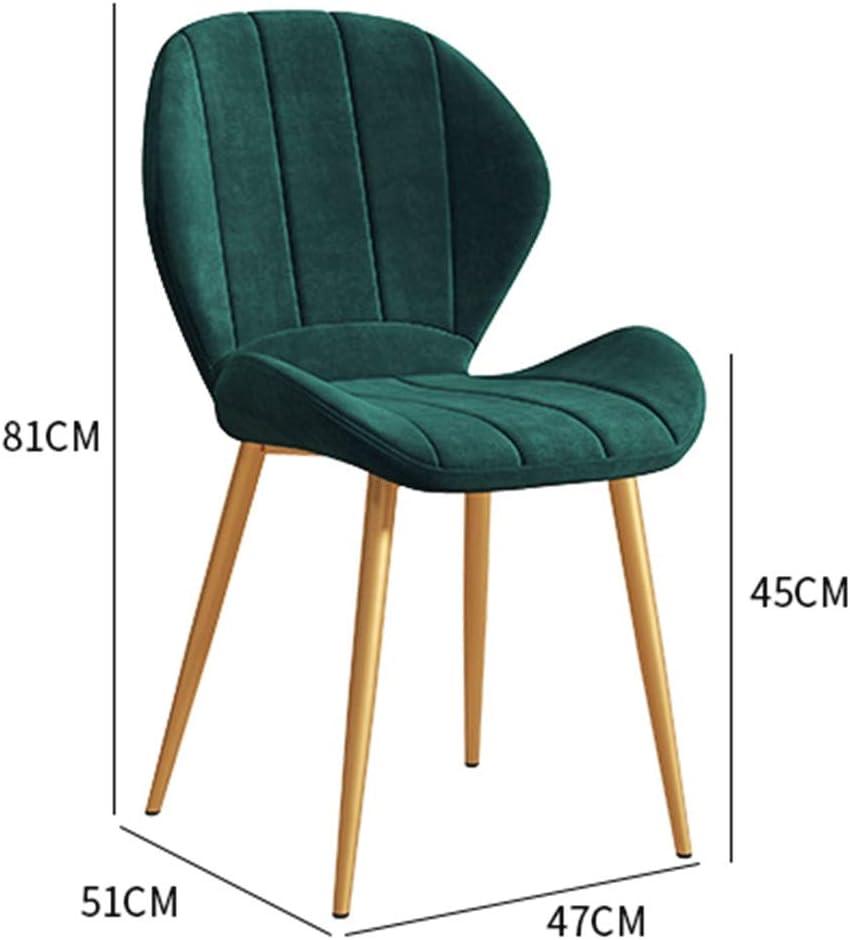 HEJINXL Chaise de salle à manger en cuir Dossier créatif Simple Dossier de bureau Mode Dortoir Chambre Étude Chambre d'ordinateur Chaise A
