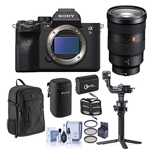 Sony Alpha a7S III Mirrorless Camera 24-70mm f/2.8 GM Lens Gimbal Bundle with DJI RSC 2, Backpack, Extra Battery, Filter...