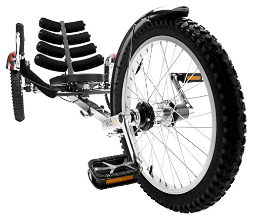 Mobo Shift 3-Wheel Recumbent Bicycle Trike. Reversible Adult Tricycle Bike, black